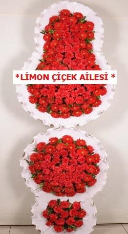 3 katlı kırmızı düğün açılış çiçeği  Elazığ çiçek online çiçek siparişi