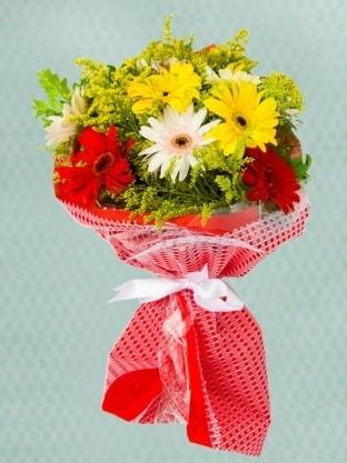Karışık Gelbera Buketi  Elazığ çiçek yolla , çiçek gönder , çiçekçi