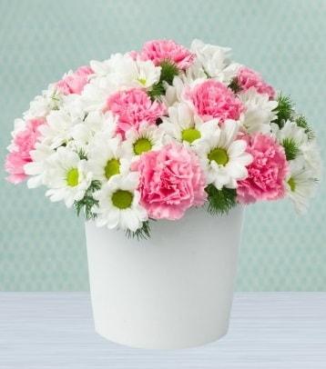 Seramik vazoda papatya ve kır çiçekleri  Elazığ çiçek yolla , çiçek gönder , çiçekçi
