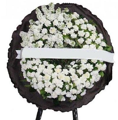 Cenaze çelengi çiçeği modelleri  Elazığ İnternetten çiçek siparişi