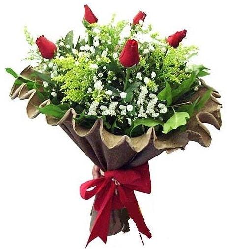 5 adet gülden buket  Elazığ anneler günü çiçek yolla