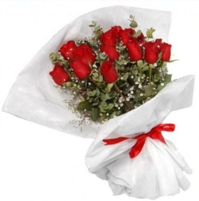 9 adet kırmızı gül buketi  Elazığ online çiçekçi , çiçek siparişi