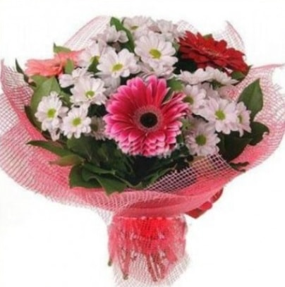 Gerbera ve kır çiçekleri buketi  Elazığ çiçek yolla