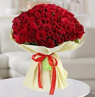 101 adet kırmızı gül buketi koca demet  Elazığ çiçek yolla
