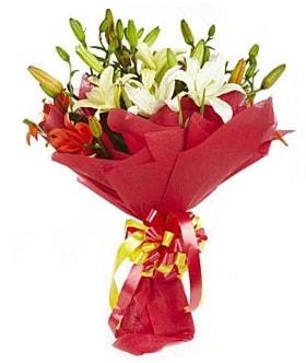 5 dal kazanlanka lilyum buketi  Elazığ anneler günü çiçek yolla