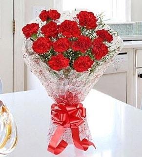 12 adet kırmızı karanfil buketi  Elazığ 14 şubat sevgililer günü çiçek