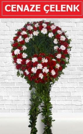 Kırmızı Beyaz Çelenk Cenaze çiçeği  Elazığ 14 şubat sevgililer günü çiçek