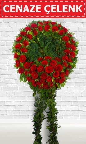 Kırmızı Çelenk Cenaze çiçeği  Elazığ 14 şubat sevgililer günü çiçek