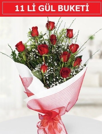 11 adet kırmızı gül buketi Aşk budur  Elazığ anneler günü çiçek yolla