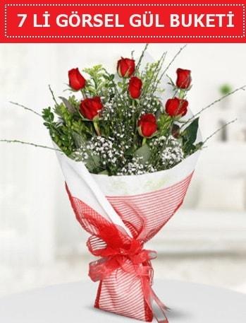 7 adet kırmızı gül buketi Aşk budur  Elazığ çiçek mağazası , çiçekçi adresleri
