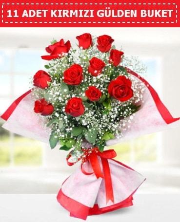 11 Adet Kırmızı Gül Buketi  Elazığ çiçek yolla