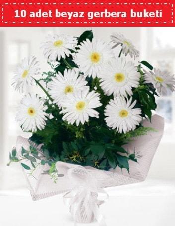 10 Adet beyaz gerbera buketi  Elazığ kaliteli taze ve ucuz çiçekler