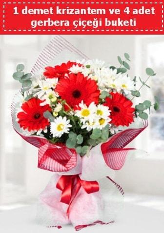 Krizantem ve Gerbera Buketi  Elazığ çiçek yolla , çiçek gönder , çiçekçi
