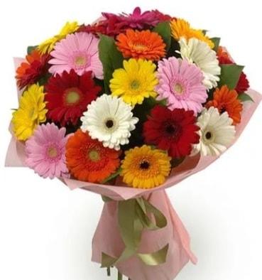 Karışık büyük boy gerbera çiçek buketi  Elazığ çiçek mağazası , çiçekçi adresleri