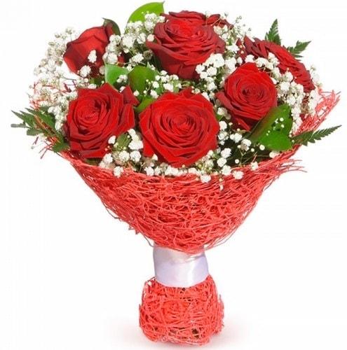 7 adet kırmızı gül buketi  Elazığ çiçek gönderme sitemiz güvenlidir